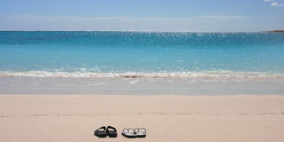 ensam strand Royaltyfria Bilder