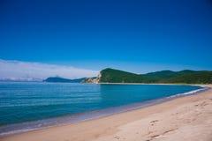 Ensam strand Royaltyfri Fotografi