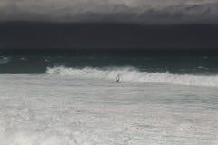 Ensam surfare Arkivbild