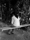 ensam swing Arkivbild