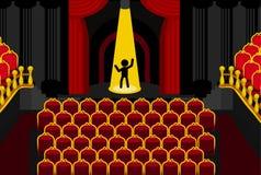 Ensam tecknad film för teateraktör Royaltyfria Bilder