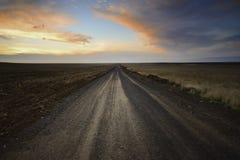 Ensam tillbaka väg Arkivfoto
