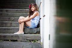 ensam tonåring Arkivfoto