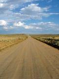 ensam väg Arkivbild