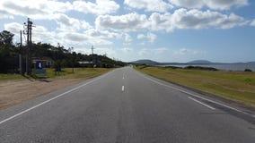 Ensam väg i Bellavista, Uruguay Royaltyfria Bilder