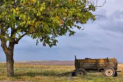 ensam vagn Arkivfoto