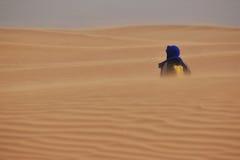 Ensam wanderer Arkivfoto