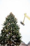 Ensambladura del árbol de Navidad de la Navidad Fotografía de archivo