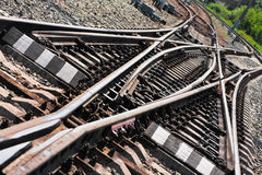 Ensambladura del ferrocarril foto de archivo libre de regalías