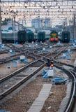 Ensambladura ferroviaria. foto de archivo