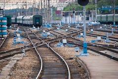 Ensambladura ferroviaria. imagen de archivo libre de regalías
