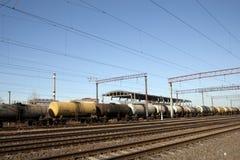 Ensambladura ferroviaria contra líneas eclécticas Imagen de archivo