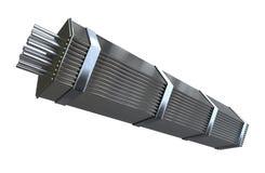 Ensamblaje de combustible nuclear ilustración del vector