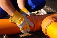 Ensamblaje de las aguas residuales Foto de archivo libre de regalías