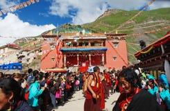 Ensamblaje tibetano de Dharma fotografía de archivo
