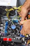 Ensamblar una PC Imagenes de archivo
