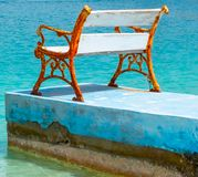 Ensamhet i havet arkivfoton