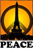 Ensamhet och fred för Paris tappninggrunge utformar Royaltyfri Fotografi