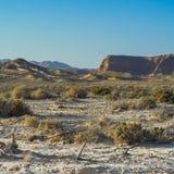 Ensamhet och tomhet av öknen arkivfoto