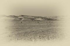 Ensamhet och tomhet av öknen arkivfoton