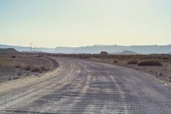 Ensamhet och tomhet av öknen royaltyfria foton