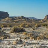 Ensamhet och tomhet av öknen arkivbild