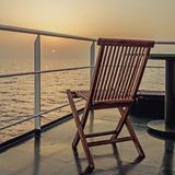 Ensamhet på havet Arkivbilder