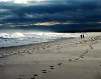 Ensamhet på kusten arkivbild