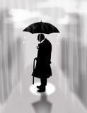 Ensamhet regn Arkivfoton