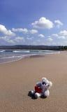 Ensamma dockor på sanden Fotografering för Bildbyråer