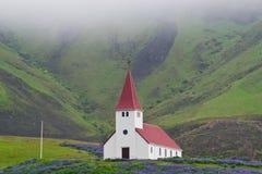 ensamma kyrkliga iceland royaltyfria foton