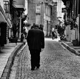 Ensamma man-TURKIET Arkivfoton