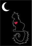 ensamt älska för katt royaltyfri illustrationer