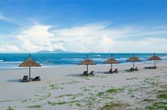 ensamt hav för strand Royaltyfria Bilder