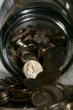 Ensamt mynt Arkivbilder