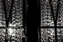 Ensamt svartvitt ljus Royaltyfria Bilder