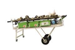 Ensanchadores médicos móviles modernos equipados todo necesario para los primeros auxilios Fotos de archivo