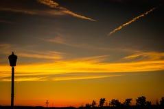 Ensanguining himlar Fotografering för Bildbyråer
