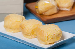 Ensaymada or cheese roll Royalty Free Stock Images