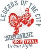 Ensayo de la bici de montaña - diseño del vector Foto de archivo