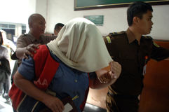 Ensayo de la droga de Indonesia Gran Bretaña Imagen de archivo