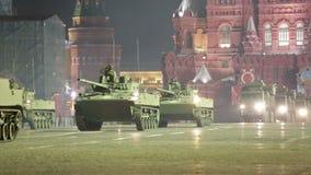 Ensayo de la noche del desfile de una victoria almacen de metraje de vídeo
