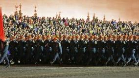 Ensayo de la noche del desfile en Plaza Roja metrajes