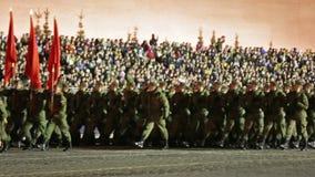 Ensayo de la noche del desfile en Plaza Roja almacen de video