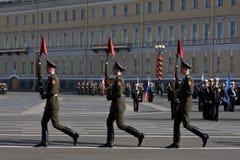 Ensayo del desfile antes del día de la victoria Imágenes de archivo libres de regalías