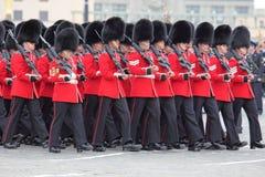 Ensayo del desfile de una victoria Imagen de archivo