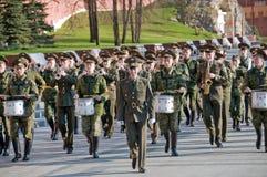 Ensayo del desfile de una victoria Fotos de archivo