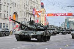 Ensayo del desfile de una victoria en Moscú Imágenes de archivo libres de regalías