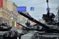 Ensayo del desfile de una victoria en Moscú Imagenes de archivo