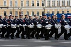 Ensayo del desfile del día de la victoria Fotografía de archivo